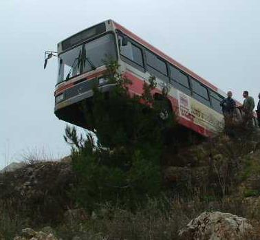 תאונות אוטובוסים - אובדן שליטה
