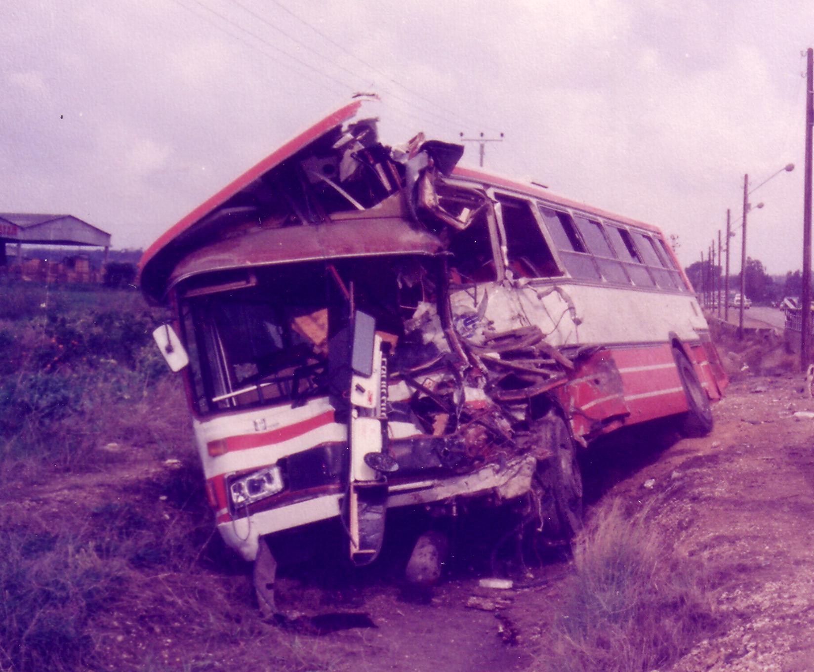 תאונות אוטובוסים - תאונה חזיתית